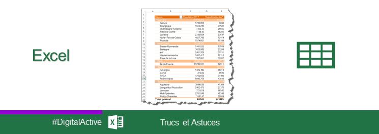Excel - Créer un Tableau Croisé Dynamique (TCD) - MaevaDigitalActive