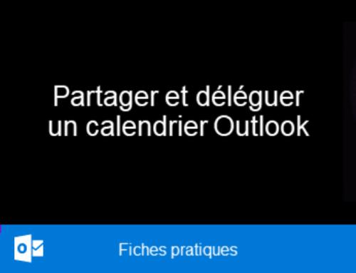 Outlook – Partager et déléguer un calendrier Outlook