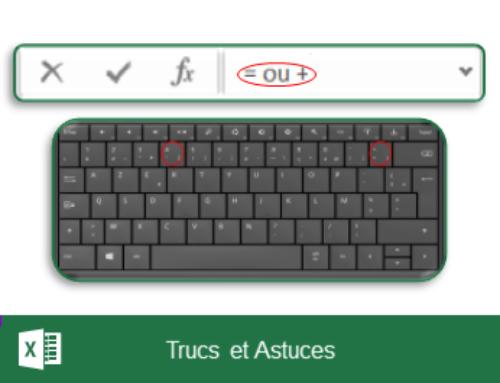 Excel – Rendre visible le signe égal (=) ou plus (+) au début d'une cellule