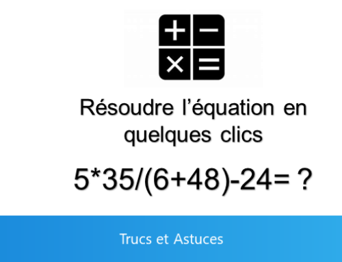 Calculer automatiquement dans Outlook et Word