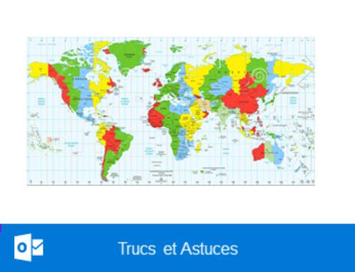 Outlook – Activer ou désactiver les fuseaux horaires