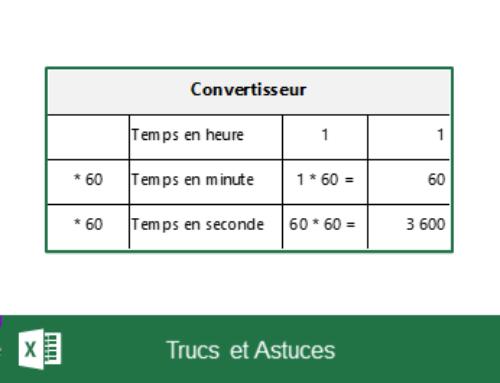 Excel – Convertir un format hh:mm:ss en secondes