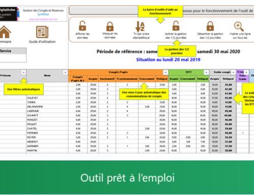 Excel : Outil de Gestion des Congés et Absences (Juin à Mai)