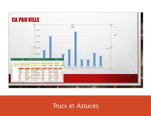PowerPoint – Insérer un graphique Excel lié