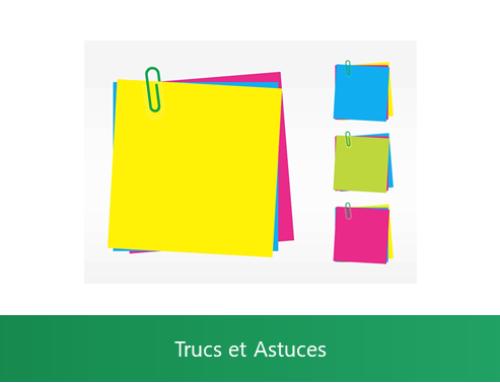 Excel – Insérer un commentaire ou une note dans un classeur