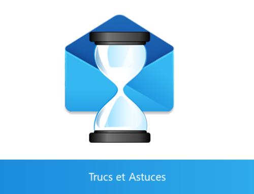 Outlook – Différer l'ensemble des mails de X minutes