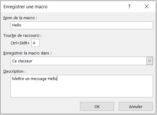Enregistrer une macro sur Excel
