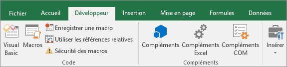 Ajouter l'onglet Développeur dans le Ruban Excel